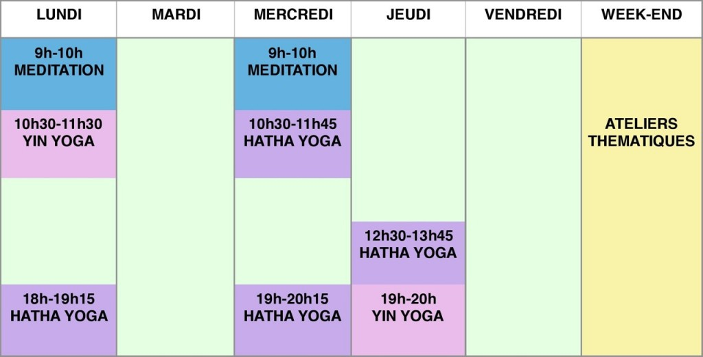 programme cours 2017-2018